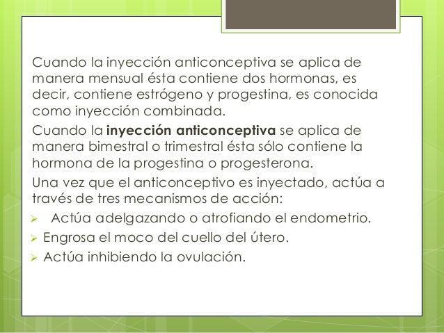inyecc u00edones anticonceptivas