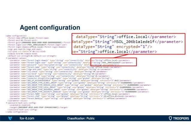fox-it.com Agent configuration Classification: Public