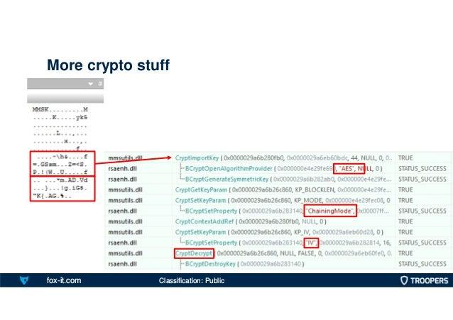 fox-it.com More crypto stuff Classification: Public