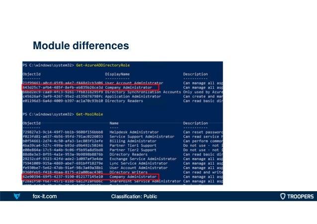 fox-it.com Module differences Classification: Public