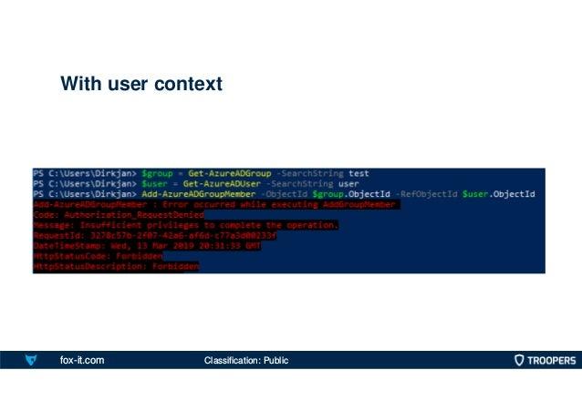 fox-it.com With user context Classification: Public