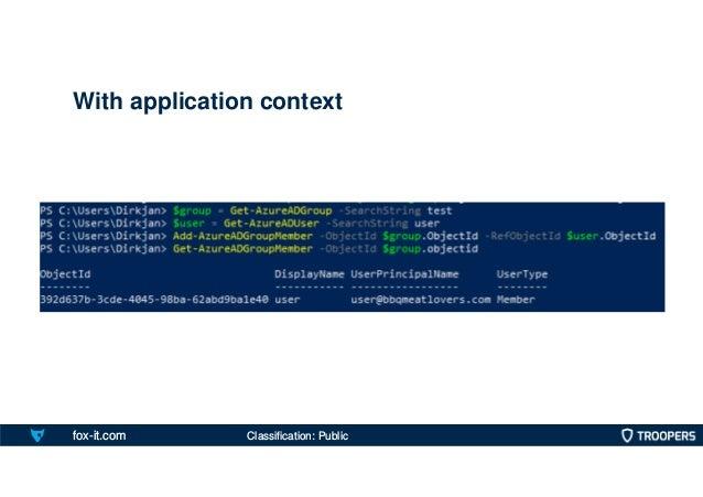 fox-it.com With application context Classification: Public