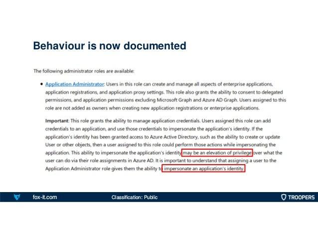 fox-it.com Behaviour is now documented Classification: Public