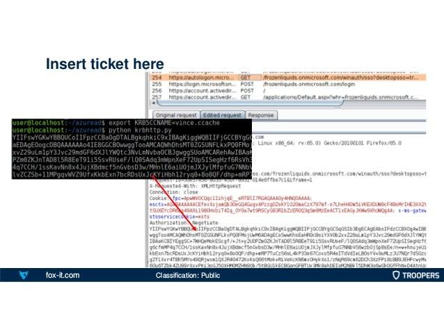 fox-it.com Insert ticket here Classification: Public