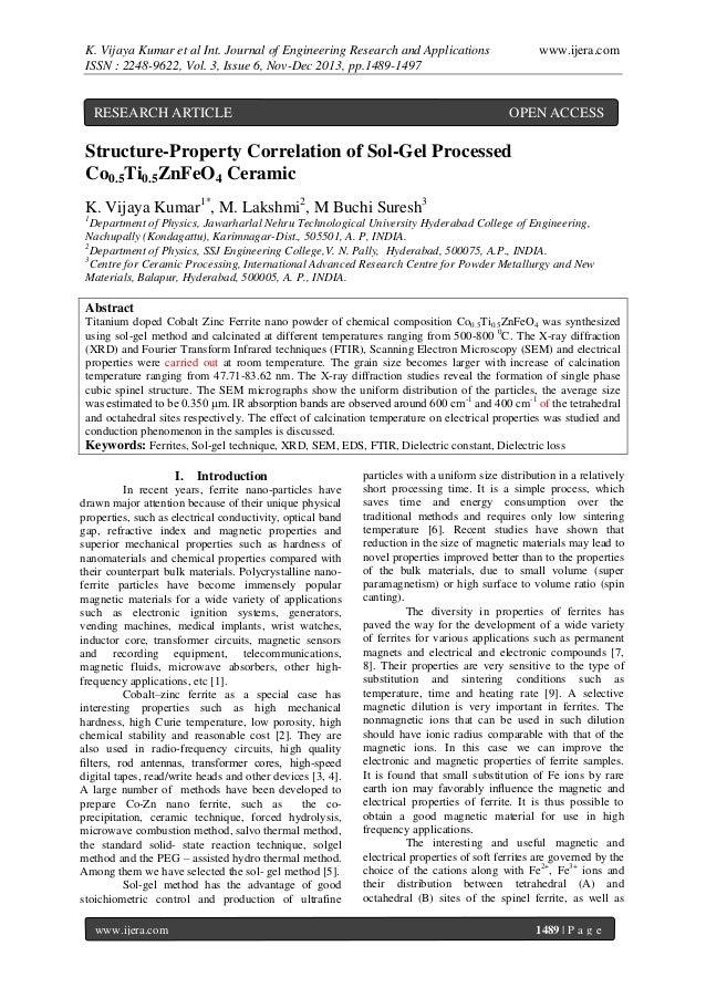 K. Vijaya Kumar et al Int. Journal of Engineering Research and Applications ISSN : 2248-9622, Vol. 3, Issue 6, Nov-Dec 201...