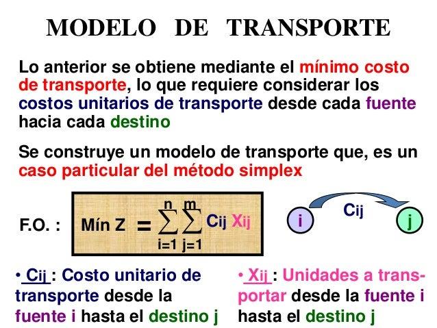 Io 3ra modelo de transporte for Como se obtiene el marmol