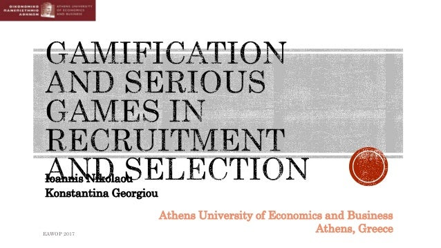 Ioannis Nikolaou Konstantina Georgiou EAWOP 2017 Athens University of Economics and Business Athens, Greece