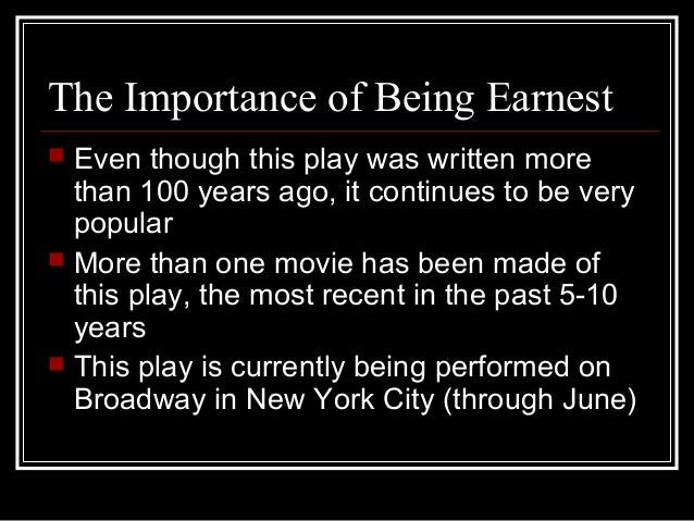 Importance Of Being Earnest Power Point
