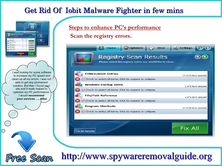 how to remove iobit malware fighter