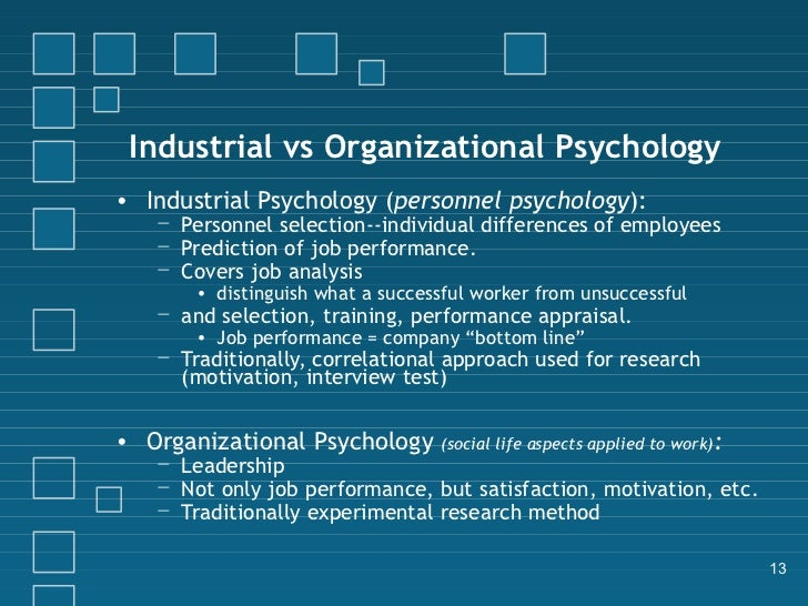 organizational psychology thesis The ms in industiral-organizational psychology is a minimal 36 credit hour program: 15 hours of core courses (thesis and non-thesis) 9 hours of methods courses.