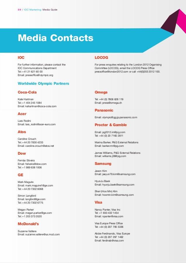 GUIDE: IOC Marketing Media 2012