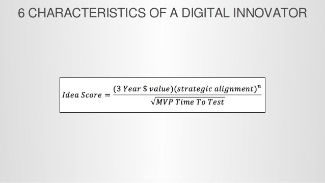 10 CHARACTERISTICS OF A DIGITAL INNOVATOR © All Rights Reserved