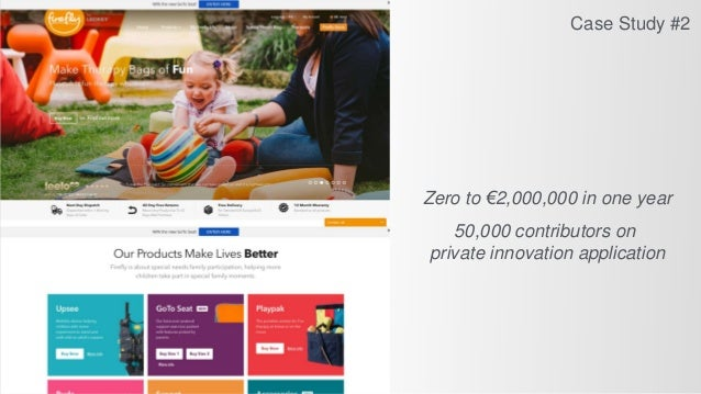 Zero to €2,000,000 in one year 50,000 contributors on private innovation application Case Study #2