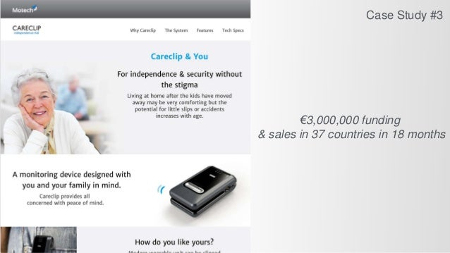 €3,000,000 funding & sales in 37 countries in 18 months Case Study #3