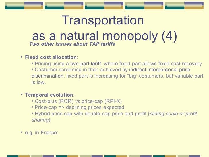 Natural Vs Non Natural Monopoly