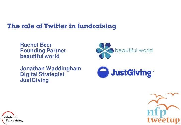 Rachel Beer Founding Partner beautiful world  Jonathan Waddingham Digital Strategist JustGiving