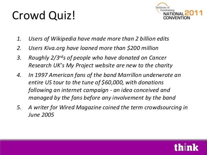 IOF crowd funding slides july 2011 Slide 3