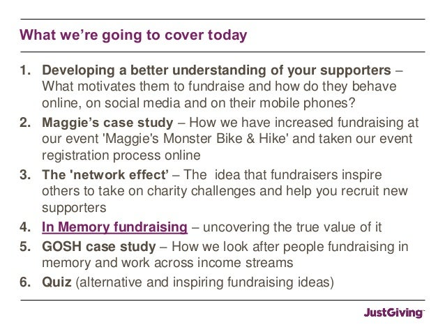 IoF National Convention: Hidden motivations and income streams - understanding the true value of your event fundraising Slide 3