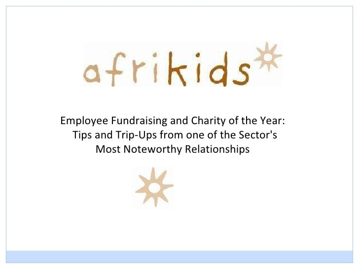 Employee Fundraising and Charity of the Year: Tips and Trip-Ups from one of the Sector's  Most Noteworthy Relationships