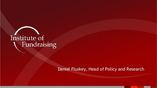 Daniel Fluskey, Head of Policy and Research