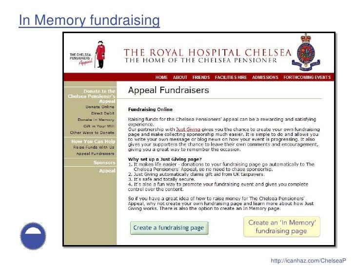 In Memory fundraising                             http://icanhaz.com/ChelseaP