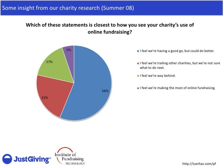 Some insight from our charity research (Summer 08)          Which of these statements is closest to how you see your chari...