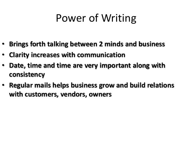 Writing skills of managerial communication