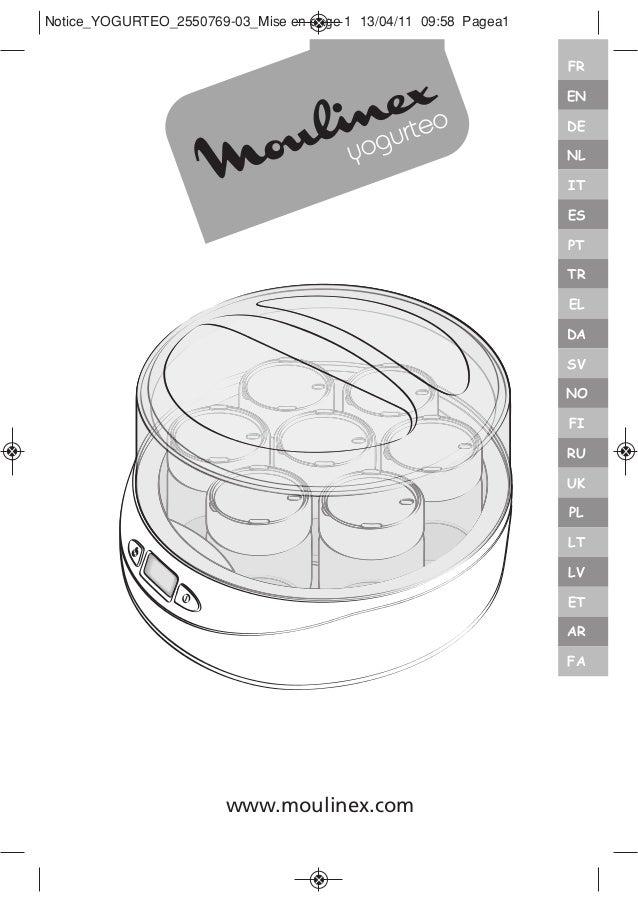 moulinex yogurt maker instruction manual