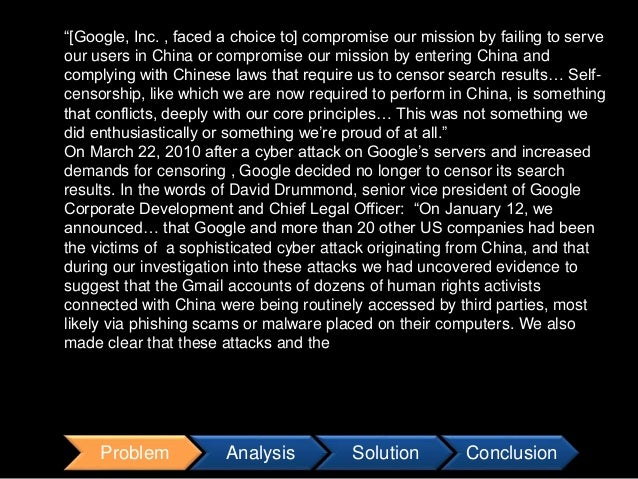google in china case study ethics