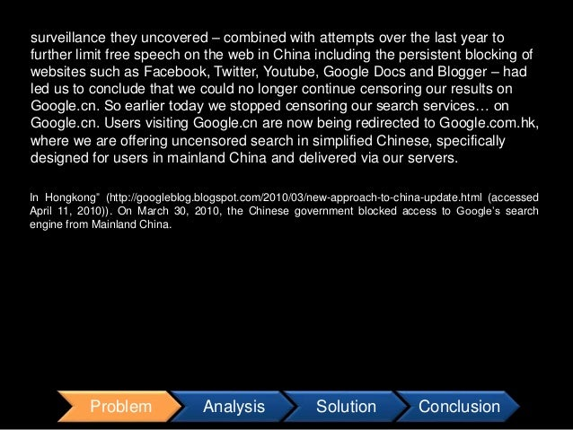 google in china solutions