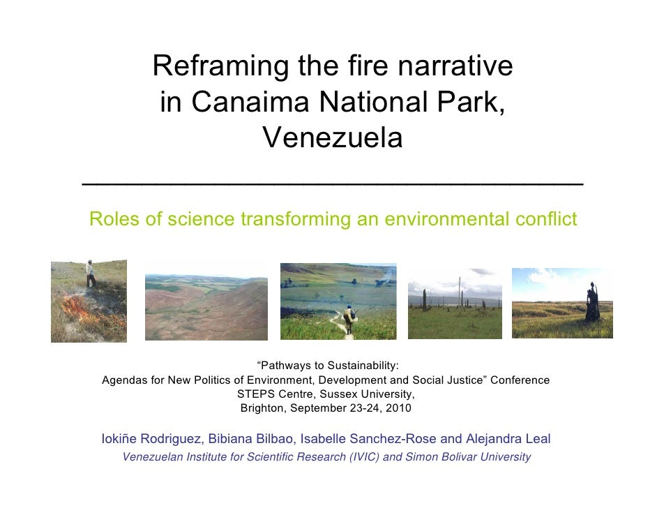Reframing the fire narrative           in Canaima National Park,                  Venezuela ______________________________...