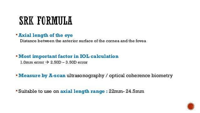 The main feature of the 1st generation theoretical formulae was  that position of IOL in the eye is fixed for each lens ...