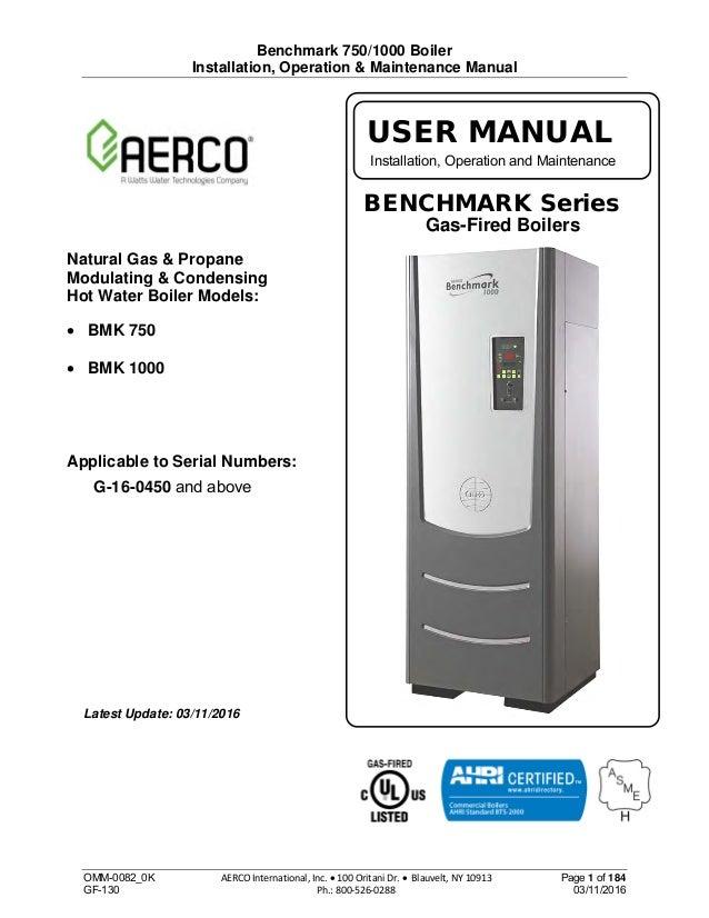 iom 0082 ok bmk 750 1000 03 xi 16 rh slideshare net Boiler Control Wiring aerco boiler installation manual