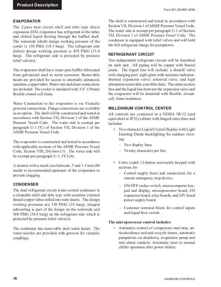 Manual Do Chiller York Com Condensação A Agua Ycwl - York relay switch