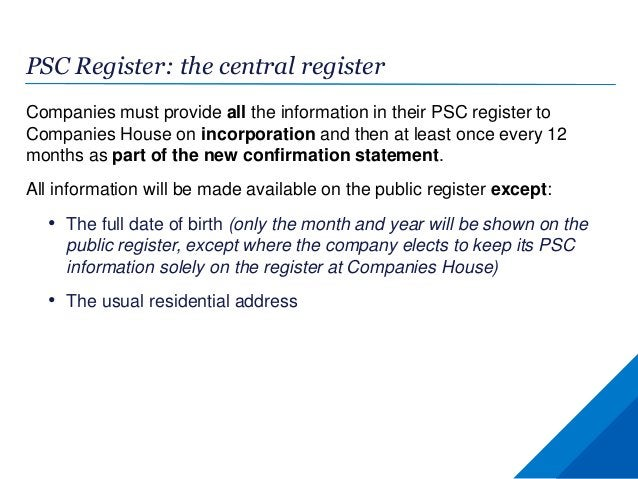 PSC Register: implications for the Isle of Man Companies must take reasonable steps to find out if they have any PSCs or R...