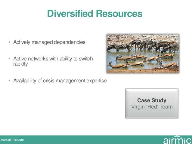 www.airmic.com Diversified Resources • Actively managed dependencies • Active networks with ability to switch rapidly • Av...