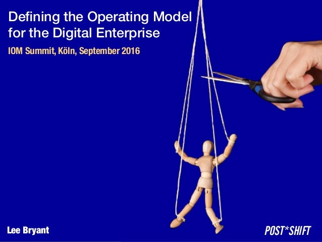 Defining the Operating Model
