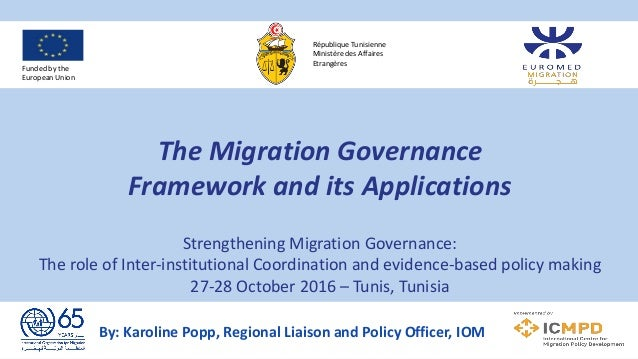 The Migration Governance Framework and its Applications Strengthening Migration Governance: The role of Inter-institutiona...