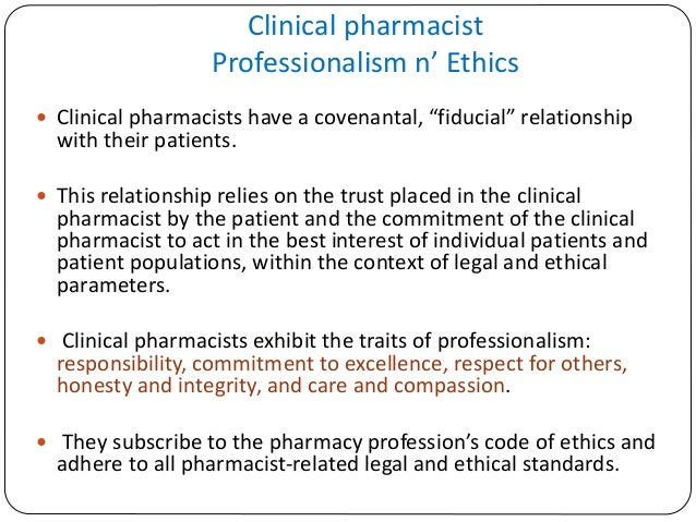 Professionalism in Clinical Pharmacy Practice