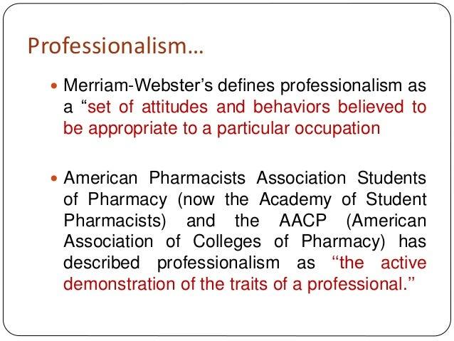Professionalism pharmacists
