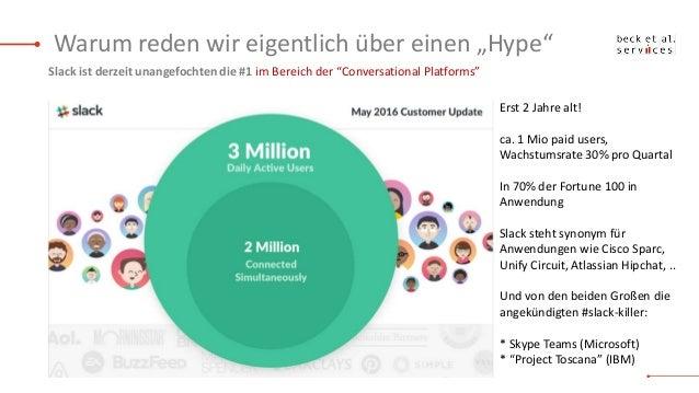 IOMS16  Sind Messaging Plattformen à la Slack die Zukunft des Digital Workplace Slide 3