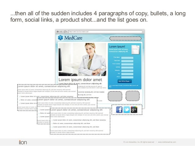 © i-on interactive, inc. All rights reserved • www.ioninteractive.com ...then all of the sudden includes 4 paragraphs of c...