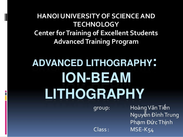 HANOI UNIVERSITY OF SCIENCE AND             TECHNOLOGYCenter for Training of Excellent Students      Advanced Training Pro...