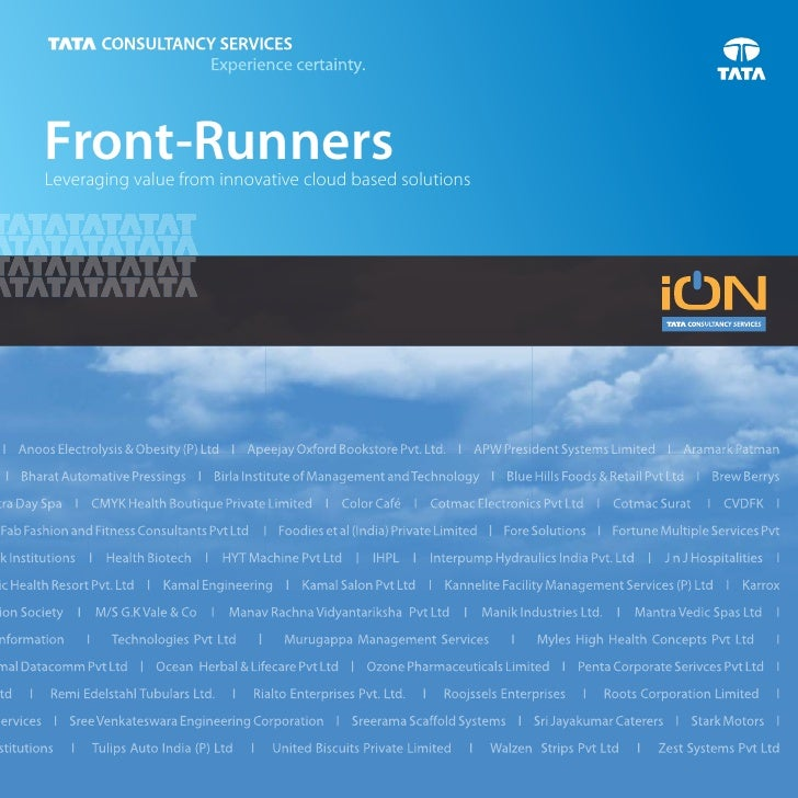 Front-RunnersLeveraging value from innovative cloud based solutions