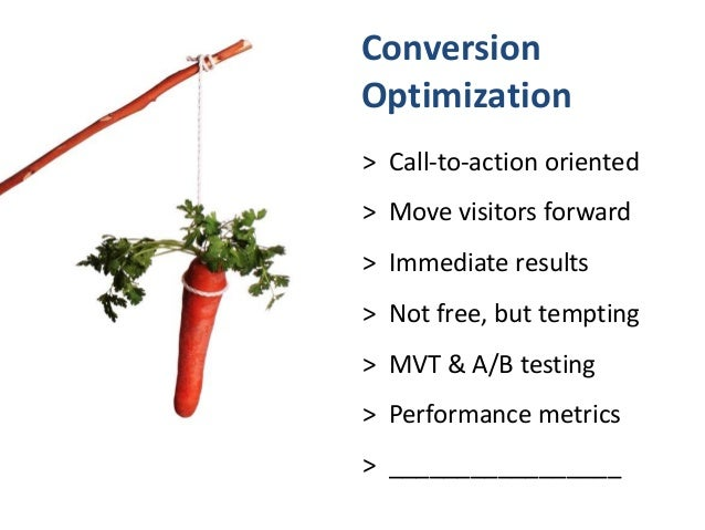 Conversion optimization is like honing pick-up lines.