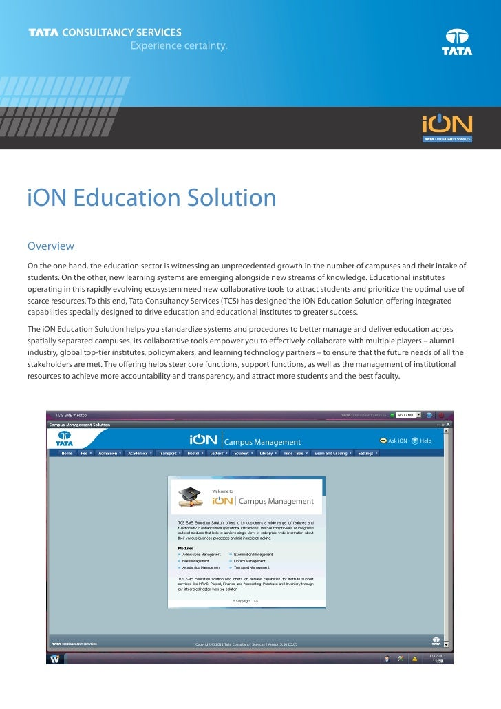 iON Education SolutionOverviewOn the one hand, the education sector is witnessing an unprecedented growth in the number of...