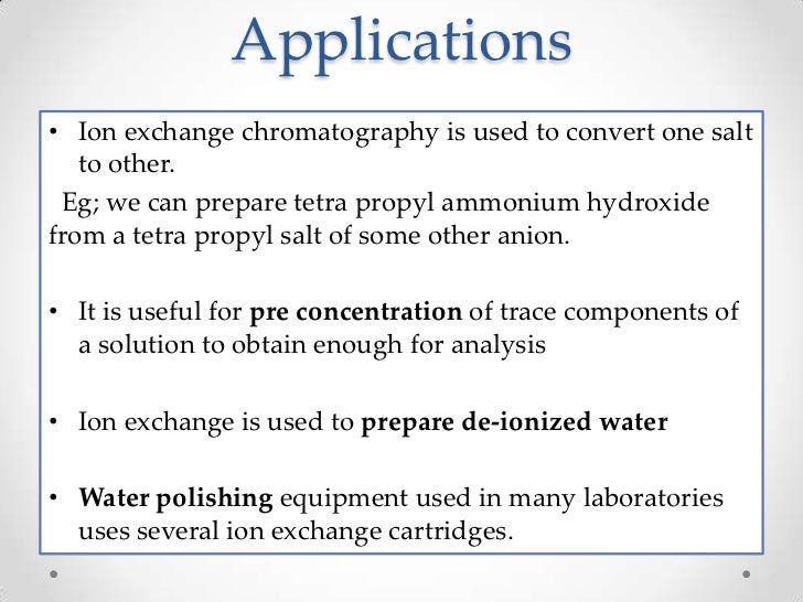 cation exchange column pdf