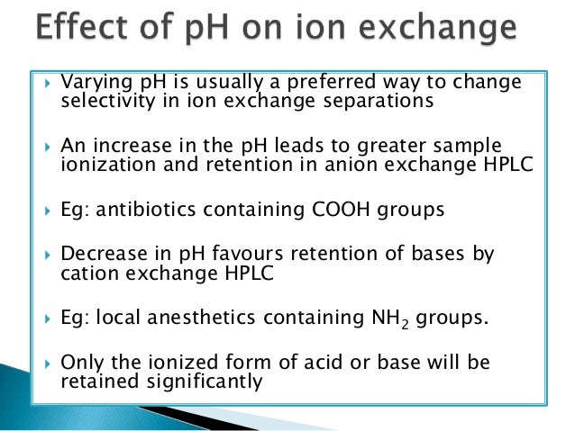 ion exchange chromatography principle pdf