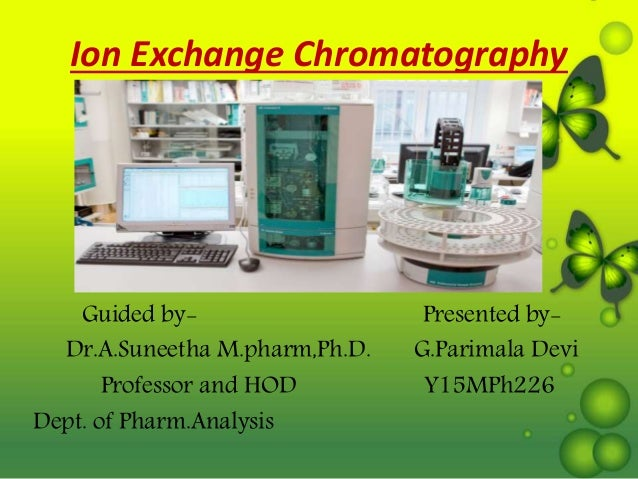 Ion Exchange Chromatography Guided by- Presented by- Dr.A.Suneetha M.pharm,Ph.D. G.Parimala Devi Professor and HOD Y15MPh2...